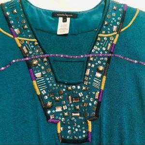 NANETTE LAPORE teal knit dress